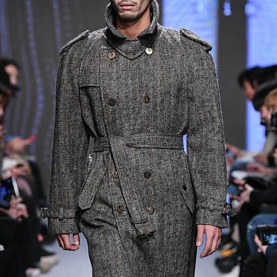 [프릭스 김태훈] FREAKS KIMTAEHOON 19FW [M]유니섹스 울 헤링본 오버사이즈 트렌치 코트 Unisex Wool Herringbone Oversize Trench Coat