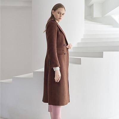 [프릭스 김태훈] FREAKS KIMTAEHOON 19FW 클랙식 픽업라펠 더블브레스트 울 코트 Classical Peaked-up Lapel Double Breasted Wool COAT_HERRINGBONE-BRICK