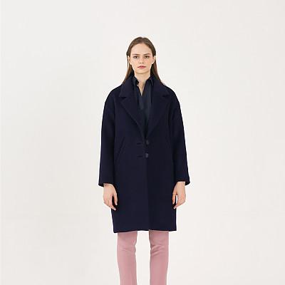 [프릭스 김태훈] FREAKS KIMTAEHOON 19FW 미니멀 테일러드 루즈핏 울 코트 MInimal Tailored Loose Fit Wool Coat_BLUE-NAVY