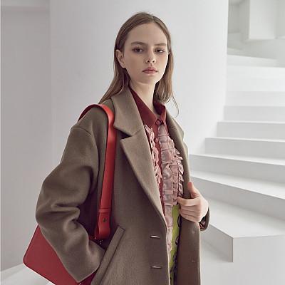 [프릭스 김태훈] FREAKS KIMTAEHOON 19FW 미니멀 테일러드 루즈핏 울 코트 MInimal Tailored Loose Fit Wool Coat_BROWN-GREY