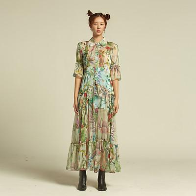 [에스와이지] 오리진 쉬폰 드레스