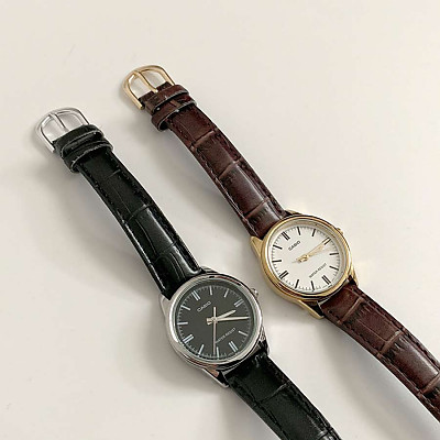 (카시오정품) 모던 클래식 가죽 시계