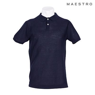 LF MAESTRO 니트 카라넥 티셔츠 IHTS9E003 NV BU