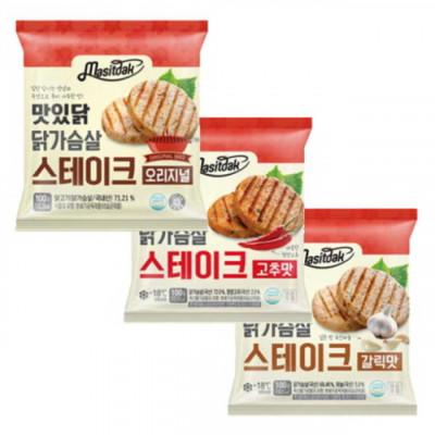 랭킹닭컴 닭가슴살 스테이크 10개 세트(오리지널,고추맛,갈릭맛)